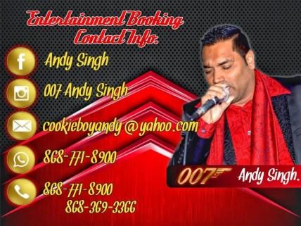 Andy Singh Booking Information Trinidad