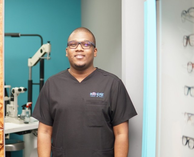 Guest optometrist, Isaiah Paul, 800-EYES Limited