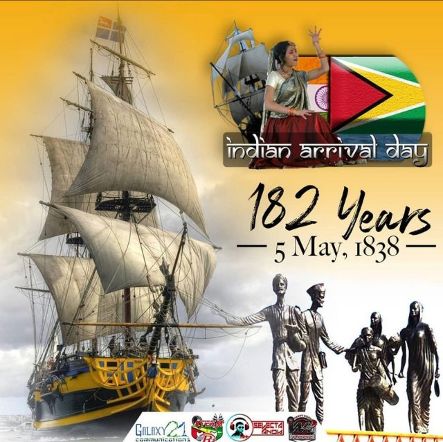 Happy Indian Arrival Day 2020 Guyana