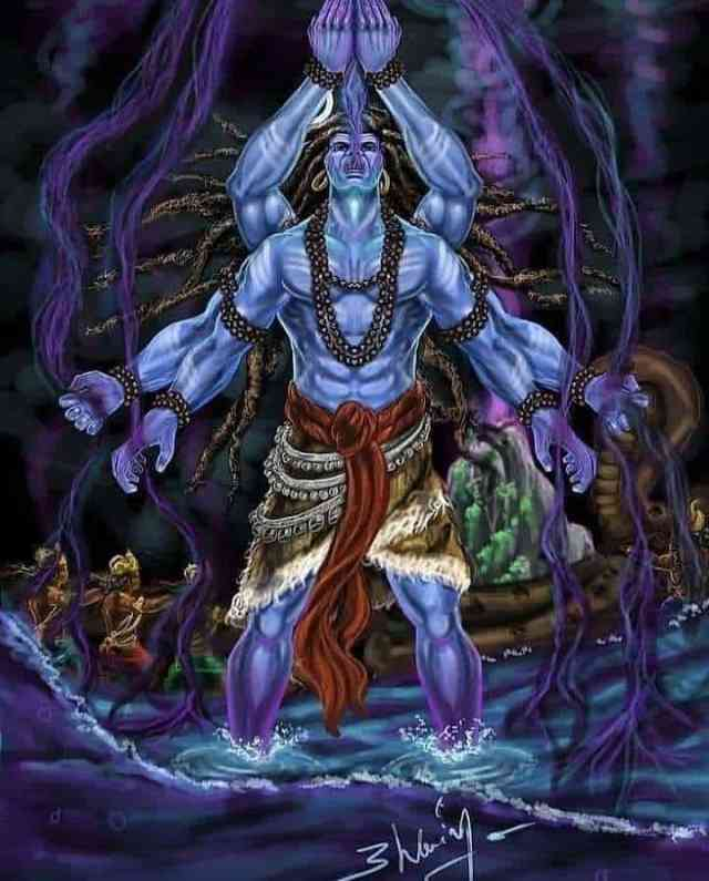 Why Does Lord Shiva Have A Blue Throat ?