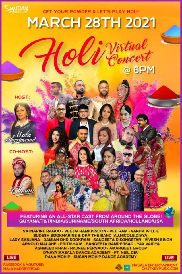 Sunday Afternoon Lime Presents Holi Virtual Concert 2021