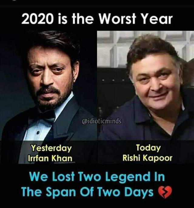 Two Bollywood Actors Dead In 2020 A Day Apart