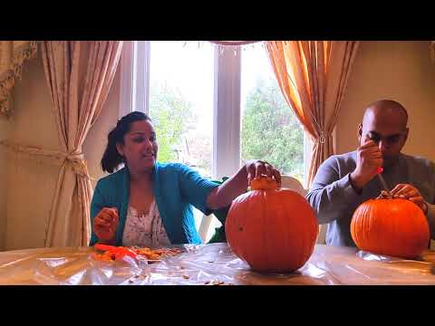 Carving Pumpkins with Gecko of PJ Masks for Halloween