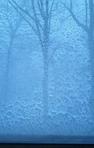 Tuyết che kín cửa sổ