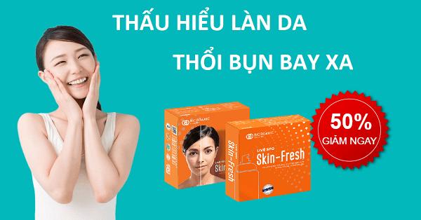 Skin Fresh – Xịt lợi khuẩn trị mụn – Hết sạch mụn chỉ sau 7 ngày