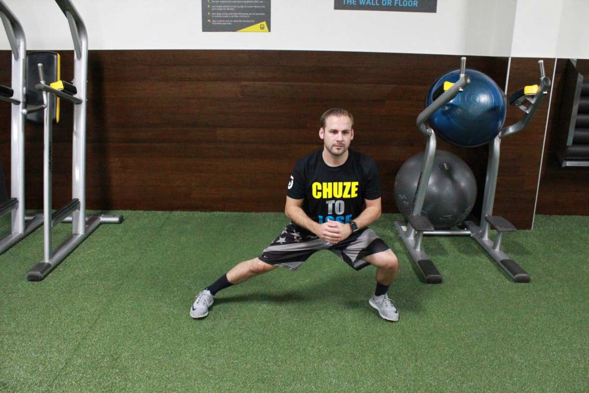 Demonstration of side lunge