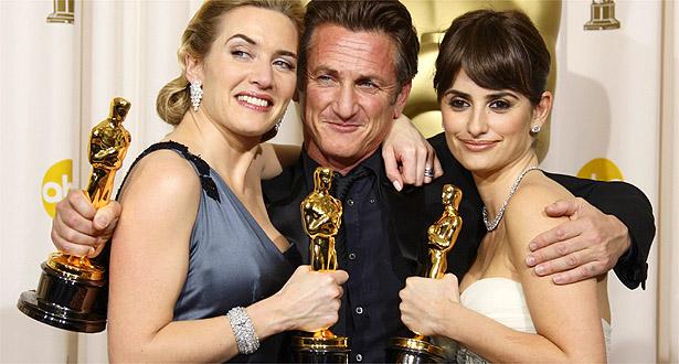 PRÊMIOS DE ATUAÇÃO: Kate Winslet, Sean Penn e Penélope Cruz levaram as estatuetas para casa