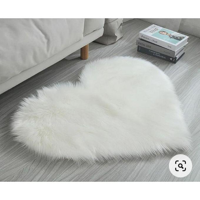 tapis de sol fausse fourrure blanc
