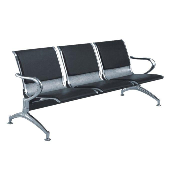 chaise de salle d attente argent noir
