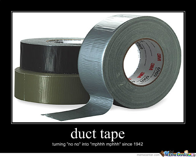 Tapes Is Good For Anything Such As Fixing A Sink Sticking Limps