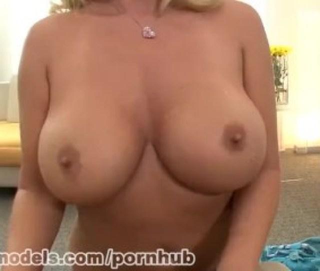 Big Boobs Blonde Cougar Gives A Great Blowjob