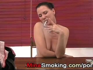 Smoking strict lady cigarette fetish