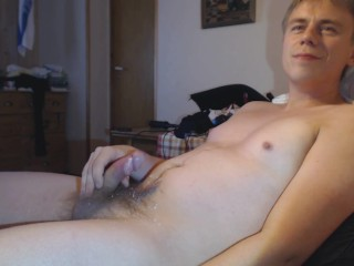 Horny Guy Masturbates Moans And Cums In An Intense Orgasm