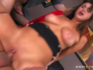Ashley Adams gets pounded by two cops  – Brazzers