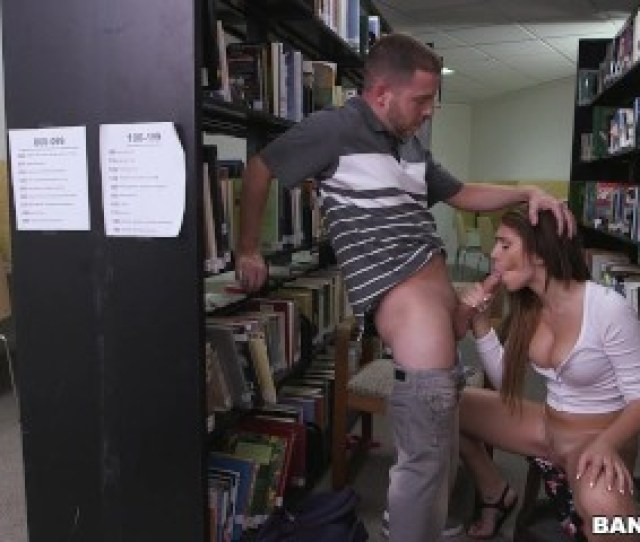 Pounding A Hot Teen Brunette Joseline Kelly In The Library