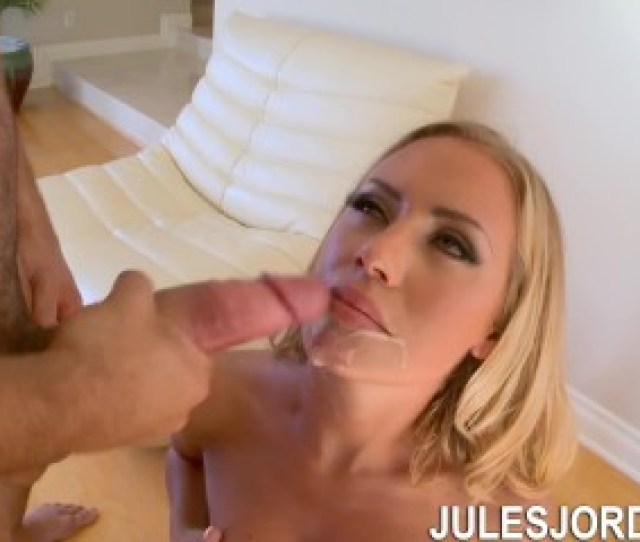 Jules Jordan Nicole Aniston Blonde Takes On A Big Cock