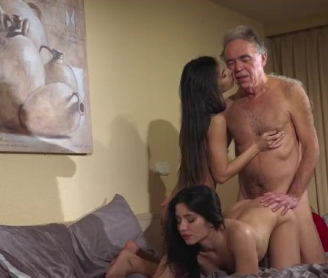 Old Young Porn Teens Share Old Man And Ride His Wrinkled Cock Swallow His C Pornhub Com