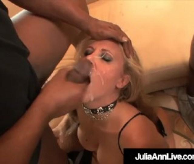 Milf Julia Ann Anal Pounded Cummed On By  Big Black Cocks