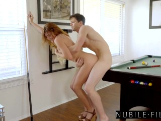 Small Adria Rae Takes Colossal Penis On Daddy's Pool Desk S28:E9