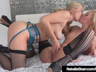 Blonde Natalia Starr Trib Smashes Aaliyah Like In Heels!