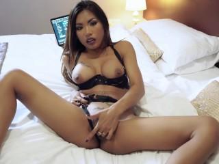 POV fingering asian slut found on tinder date