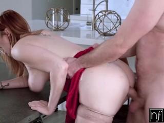 Busty Redhead Vixen Lauren Phillips Valentines Day Sex Session S10:E10
