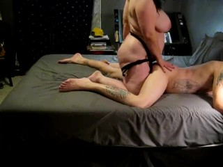 lover pegging sissy husband with 12 strapon fuck toy femdom part2