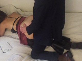 Suit fuck french slutty schoolgirl in doggystyle – Lilparamour. com special