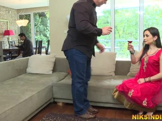 Man earns his Desi slut lover abused by his Boss to get job promotion
