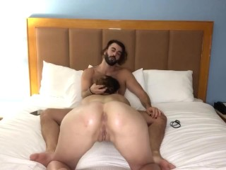 Eating some Italian meat while i finger my pussy and ass