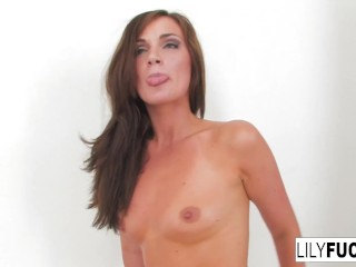 Lily Plays With Her Wet Pussy Till She Orgasms Over And Over And Over!