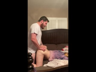 Letting my best friends boyfriend fuck me while she studies in the other room!