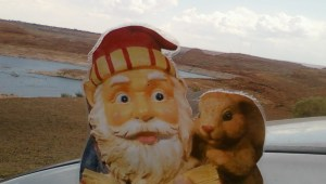 Library Gnome at Lake Powell