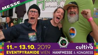 Photo of Das laufende Hanfblatt – Cultiva Hanfmesse 2019, Eventpyramide Vösendorf