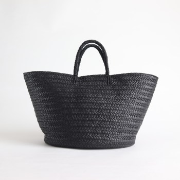 Aeta | アエタ [ LEATHER BASKET L #BLACK [KG03] ]