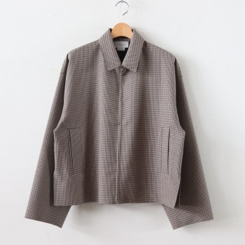 YOKE | ヨーク [ FIVE COLORS PLAID WOOL CUT-OFF DRIZZLER JACKET #BEIGE PLAID [YK19AW0054B] ]