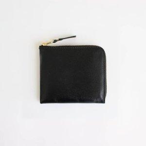 Wallet COMME des GARCONS   ウォレット コム デ ギャルソン [ L字型ZIP財布 - CLASSIC LEATHER LINE #BLACK [8Z-D003-051] ]