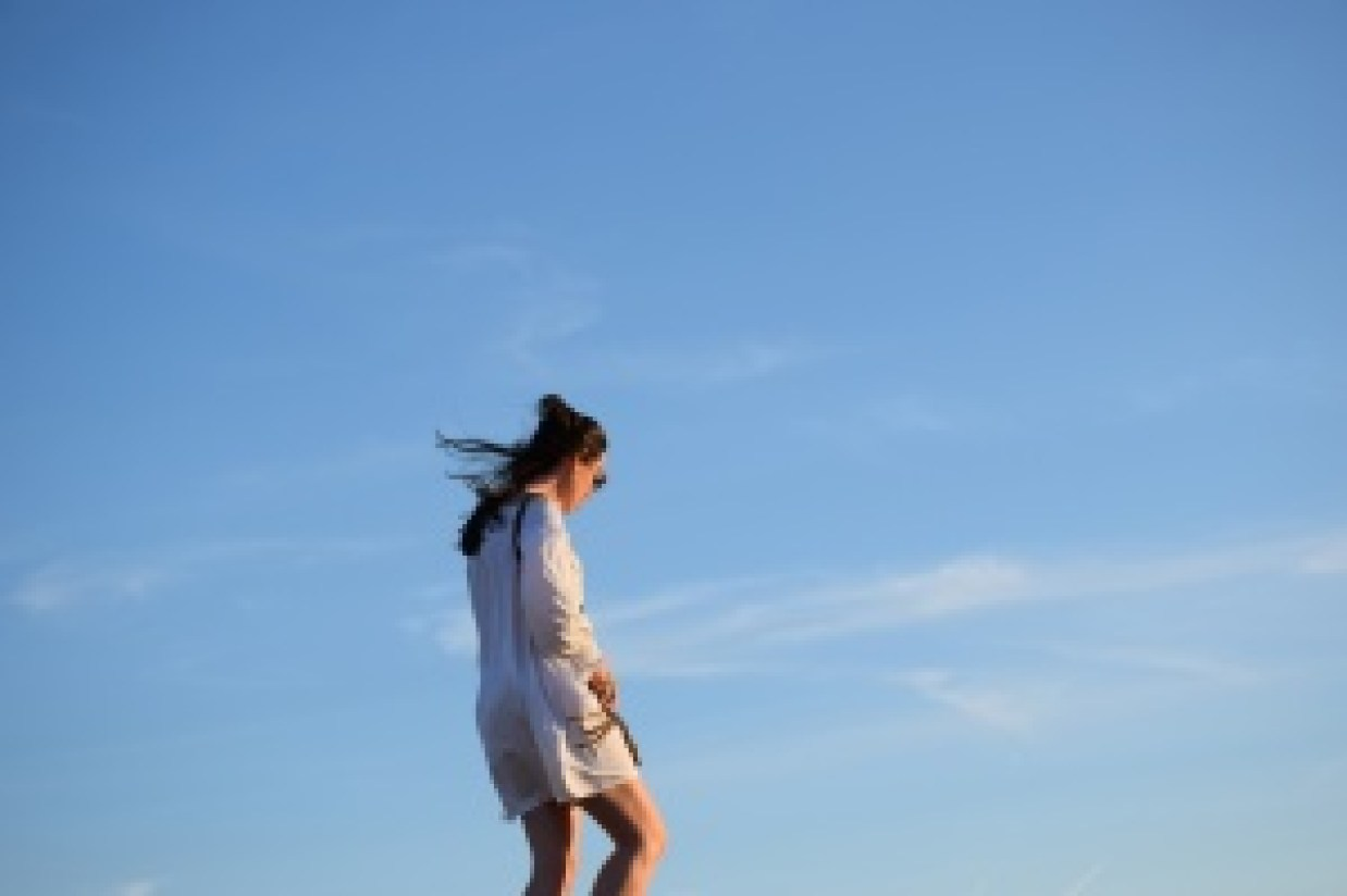 Dans le bleu du ciel bleu