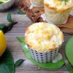 Blue Polka Dot Cups of Lemon Muffins