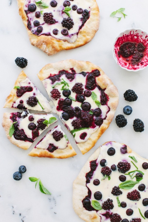Berry Pizza with Whipped Ricotta Mascarpone Cheese