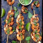 Basil Chimichurri Grilled Shrimp Recipe