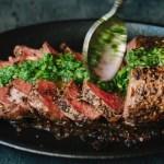 Chimichurri Steak in a Cast Iron Skillet