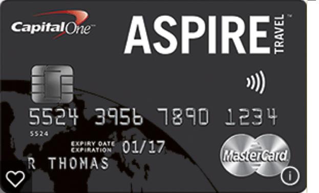 CapitalOne Aspire Travel Rewards Card