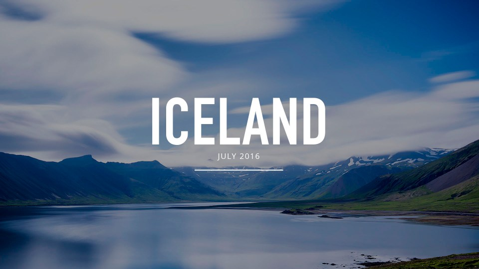 Iceland Summer Photography
