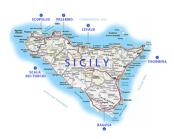 Seaside towns of Sicily