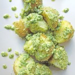 Watercress pesto potato salad
