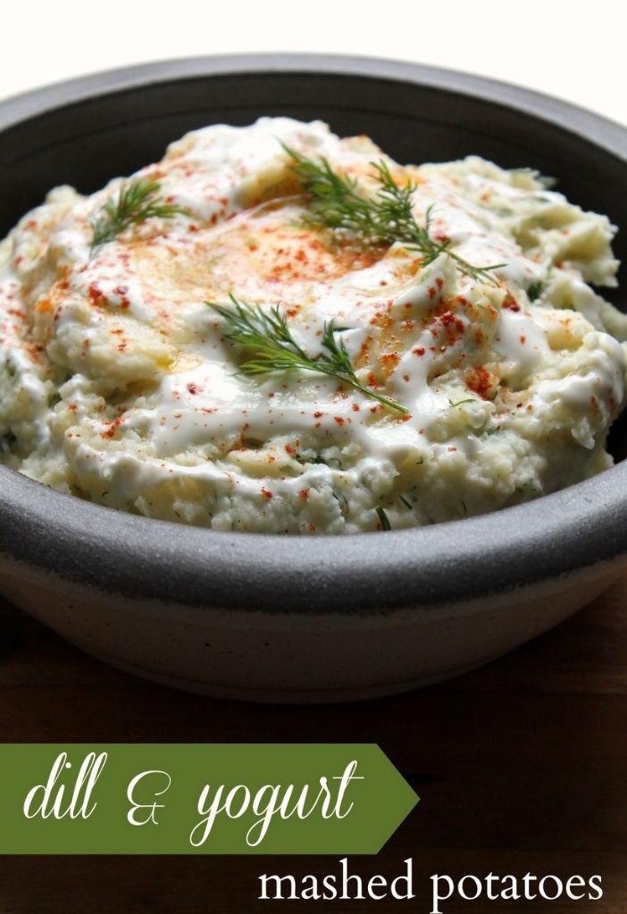 creamy dill yogurt mashed potatoes recipe