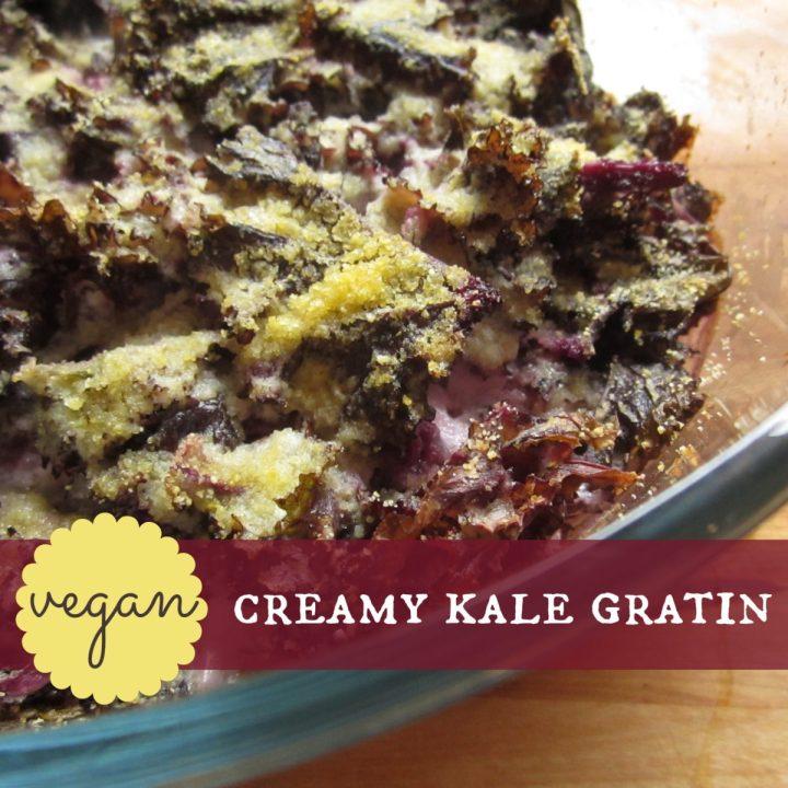 vegan kale gratin