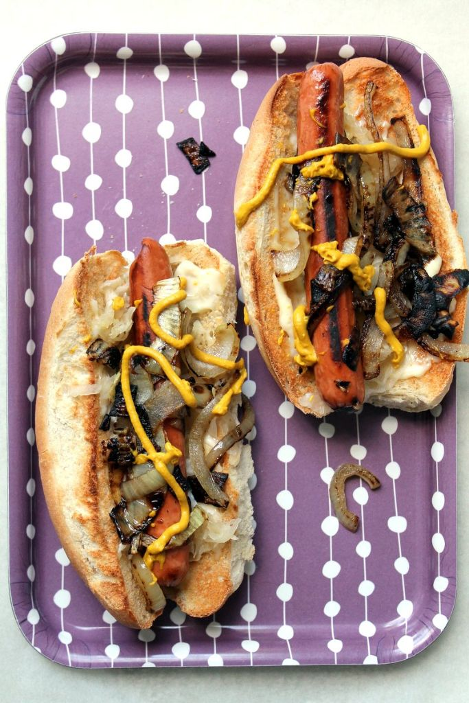 the ultimate posh #vegetarian hot dog