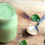 Gentle green breakfast smoothie